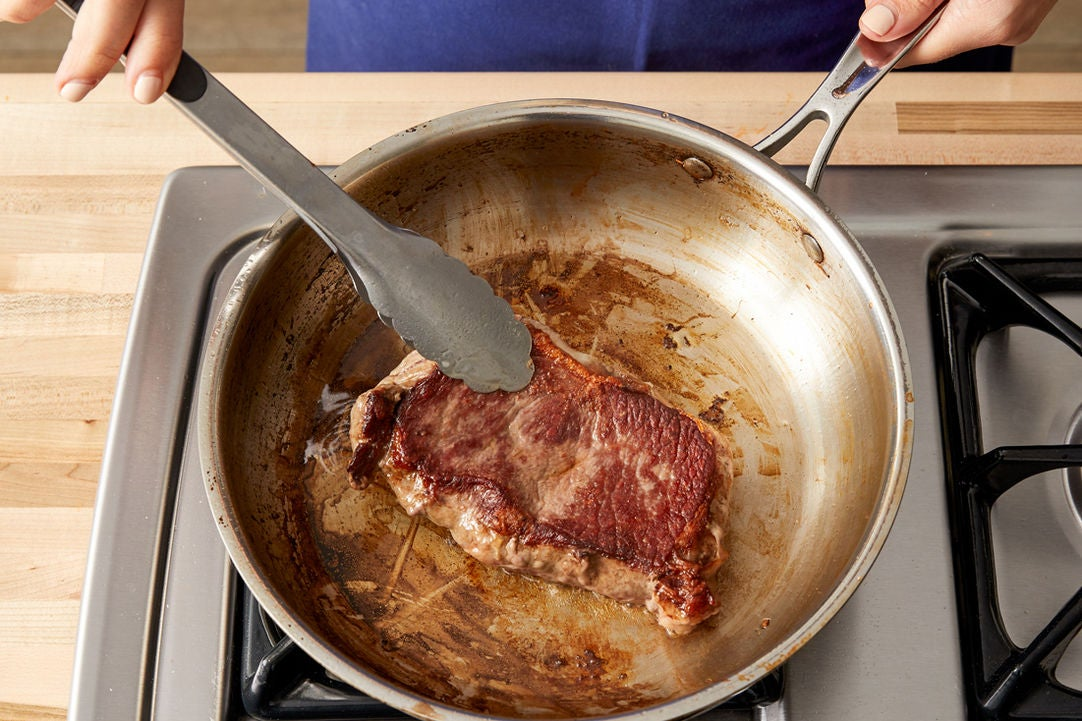 Cook the steak: