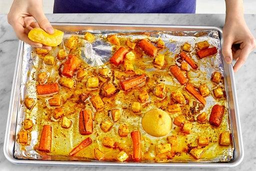 Prepare, roast & finish the vegetables