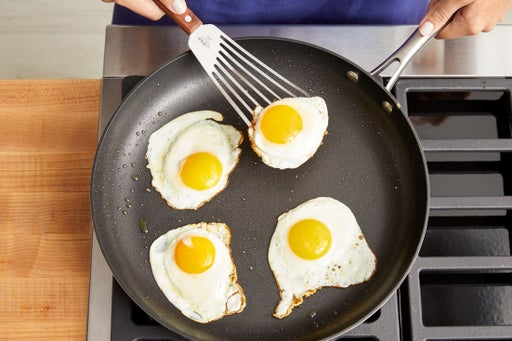 Fry the eggs & serve your dish