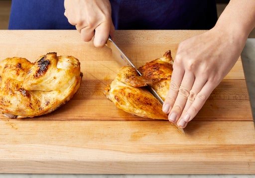 Carve the chicken & serve your dish: