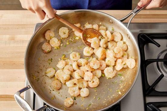 Start the shrimp: