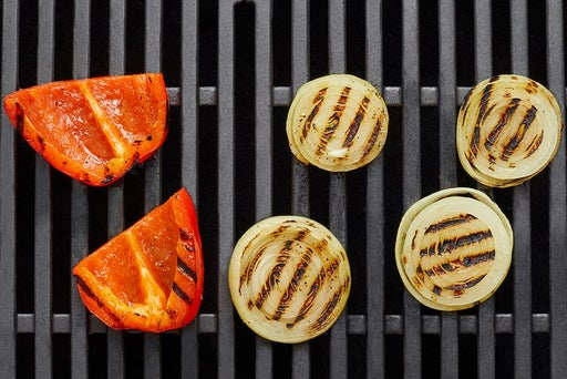 Grill & dress the vegetables