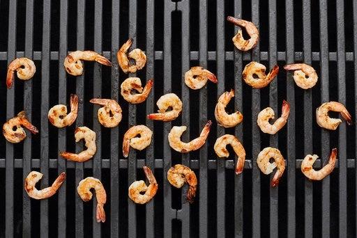 Grill & finish the shrimp