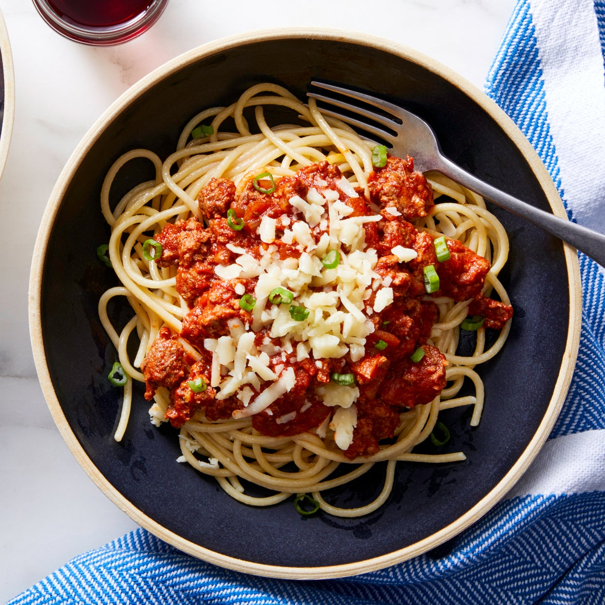 Cincinnati-Style Beef Chili with Spaghetti & White Cheddar Cheese