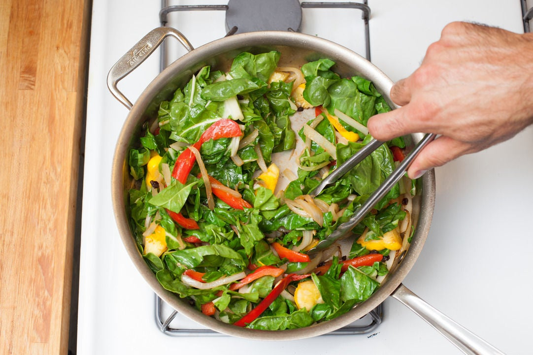 Add the Swiss chard:
