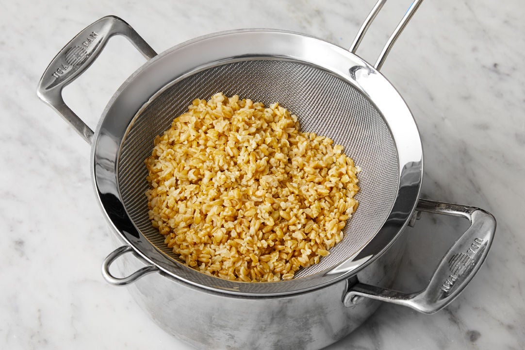 Cook the freekeh: