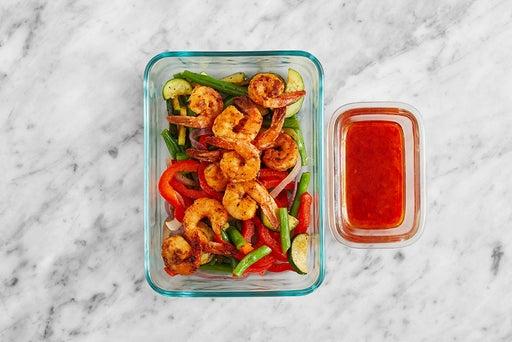 Assemble & Store the Spicy Lemon Shrimp