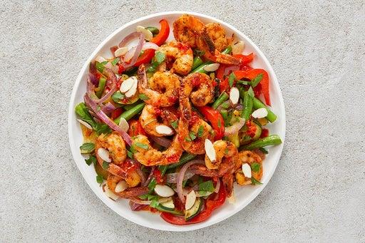 Finish & Serve the Spicy Lemon Shrimp