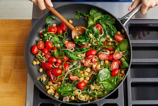 Cook the chickpeas & vegetables