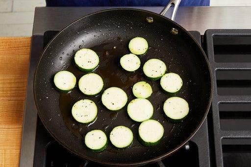 Cook & finish the zucchini