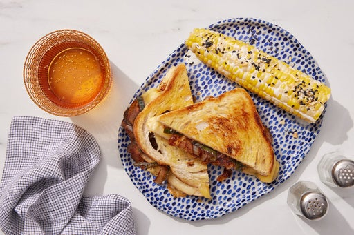 Chipotle-Glazed Veggie Grilled Cheese with Lime-Mayo Corn