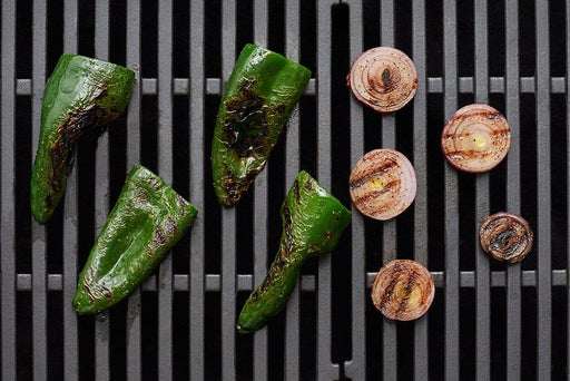 Grill the peppers & onion