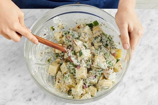 Make the potato salad & serve your dish