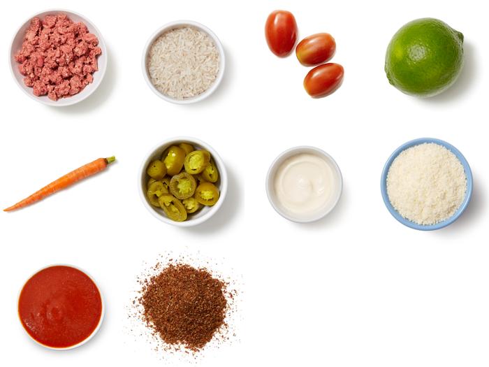 Smoky Guajillo Beef & Rice Bowls with Fresh Tomato Salsa & Lime Mayo