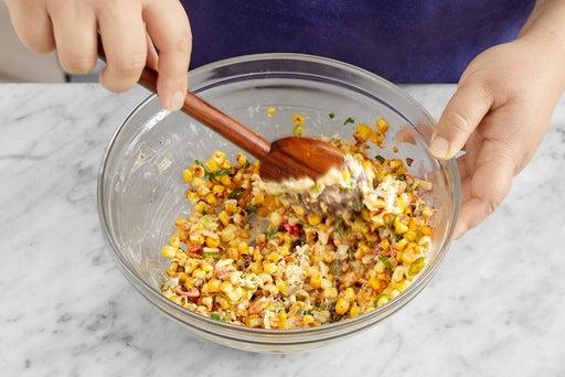 Make the cheesy corn