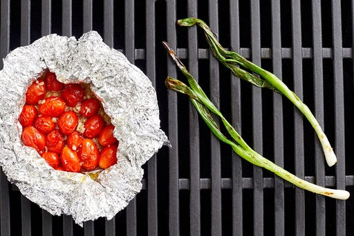 Grill the scallions & tomatoes