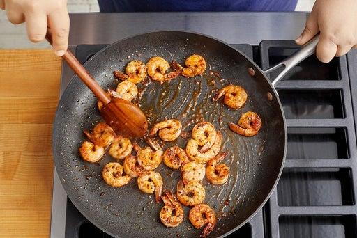 Cook the shrimp