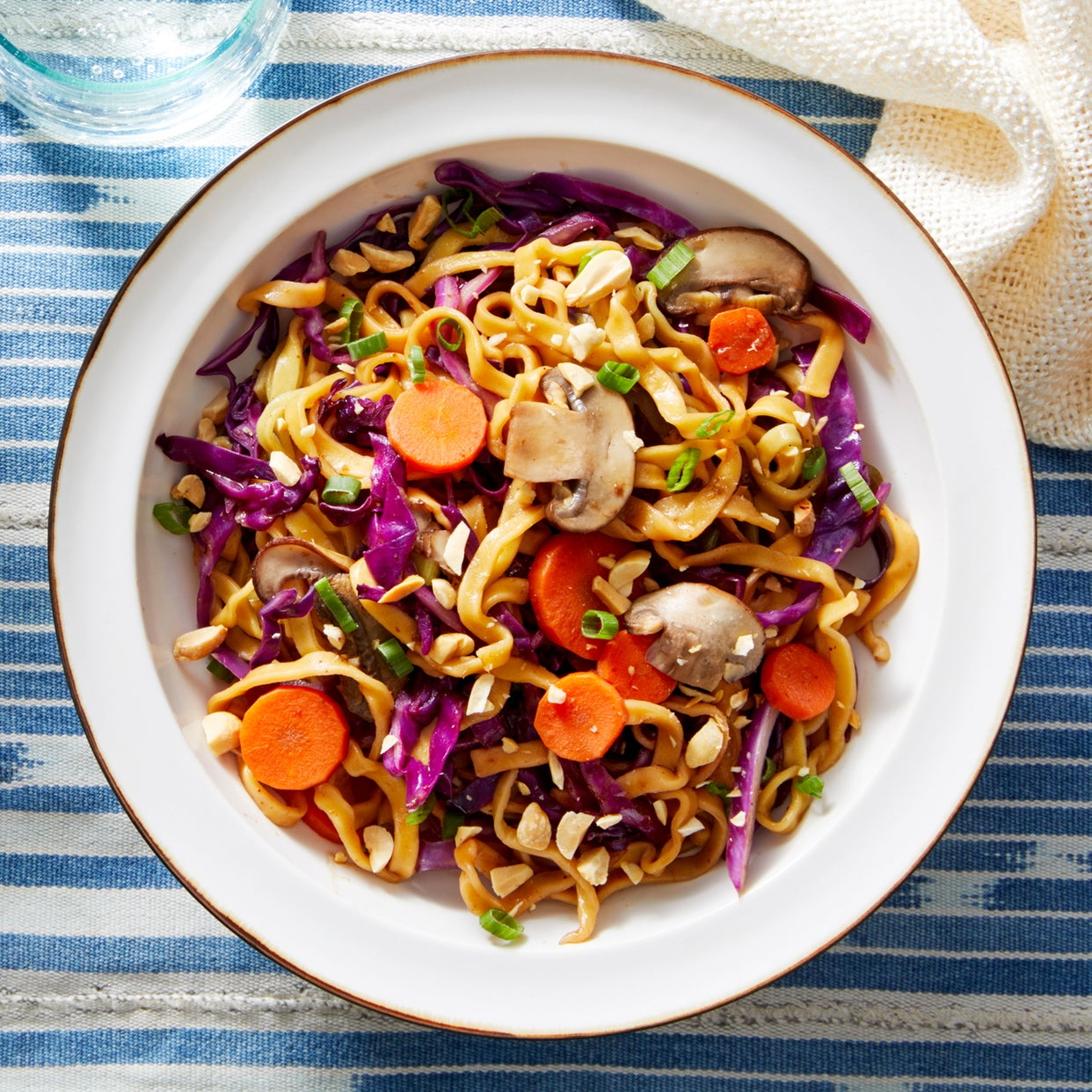 Cumin-Spiced Wonton Noodles with Vegetables & Peanuts