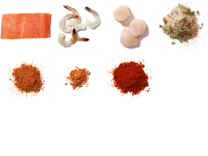 Seafood Trio Salmon, Shrimp & Scallops