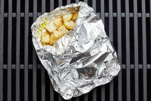 Grill & dress the potatoes