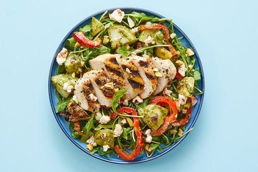 Finish & serve the Oregano Chicken & Potato Salad