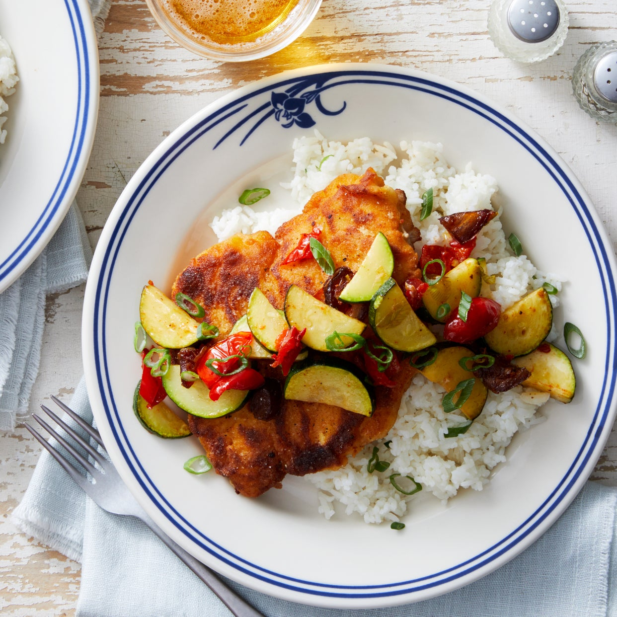 Pan-Fried Chicken Breast with Sweet & Tangy Zucchini