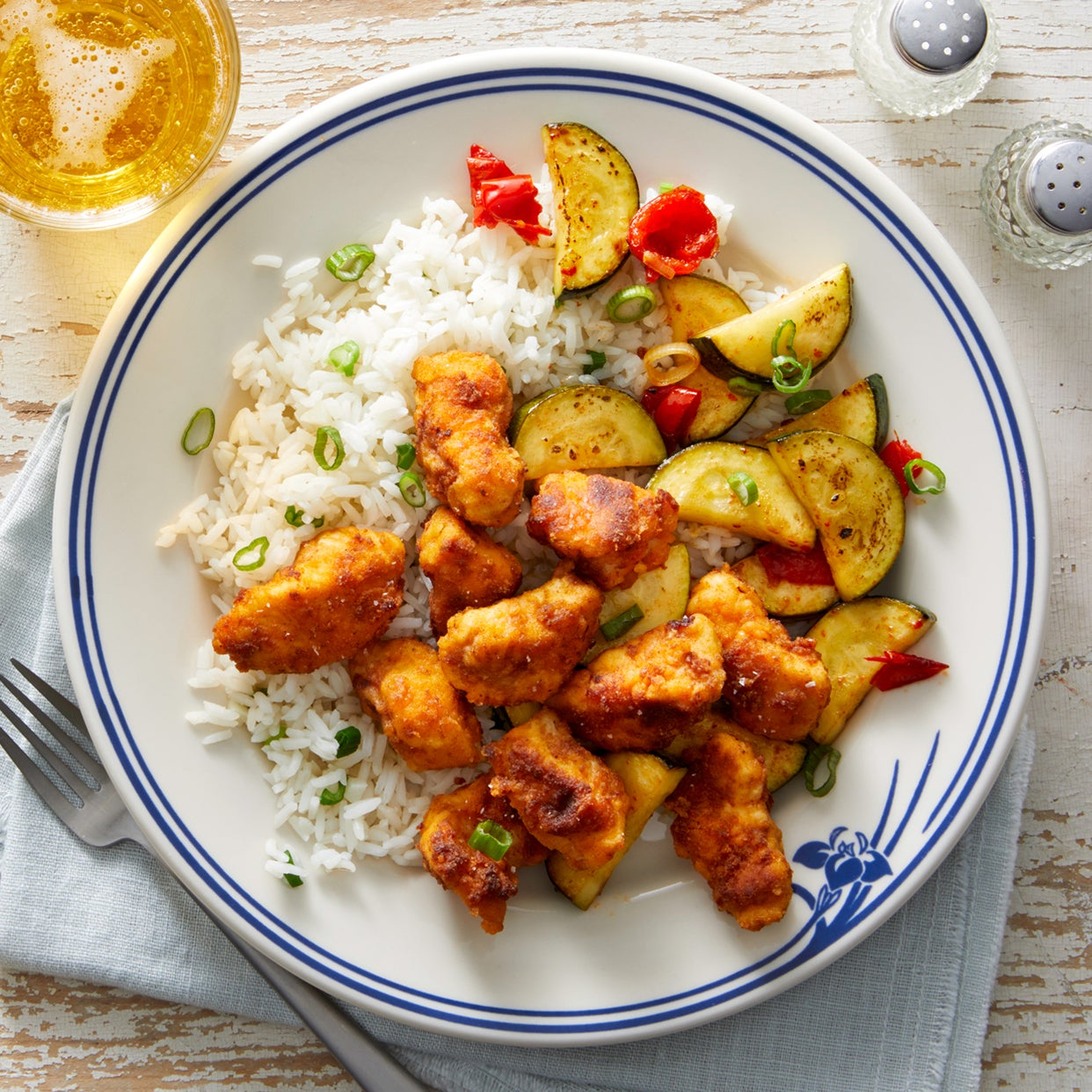 Pan-Fried Chicken with Zucchini & Pickled Peppers