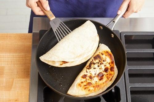 Assemble & cook the quesadillas