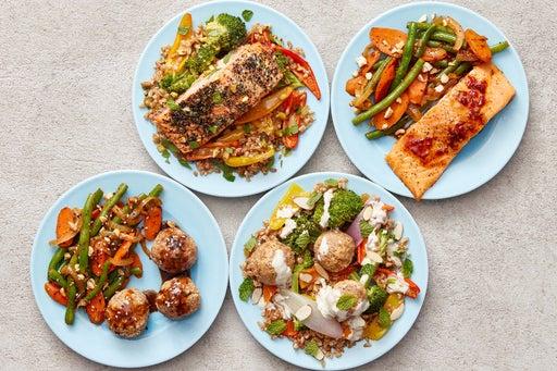 Turkey Meatballs & Trout Meal Prep Bundle