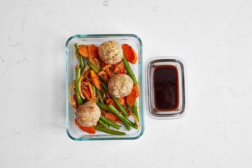 Assemble & Store the Hoisin Turkey Meatballs