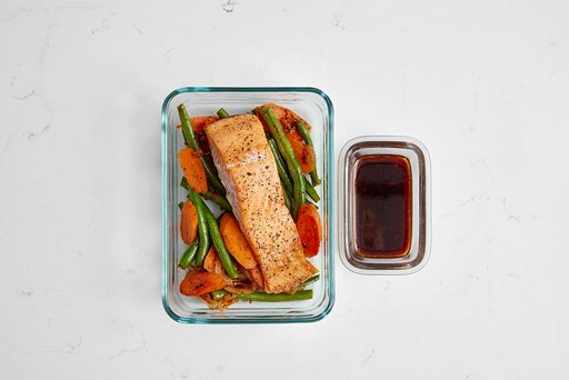 Assemble & Store the Soy-Sambal Trout