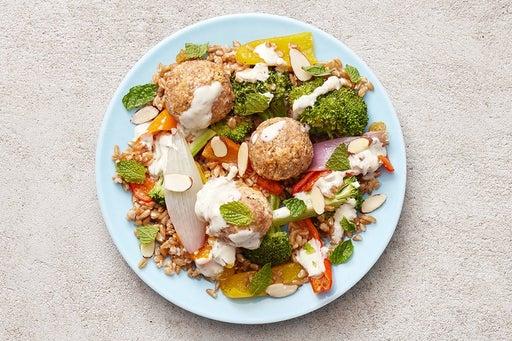 Finish & Serve the Ricotta Turkey Meatballs