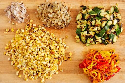 Finish the vegetables & noodles