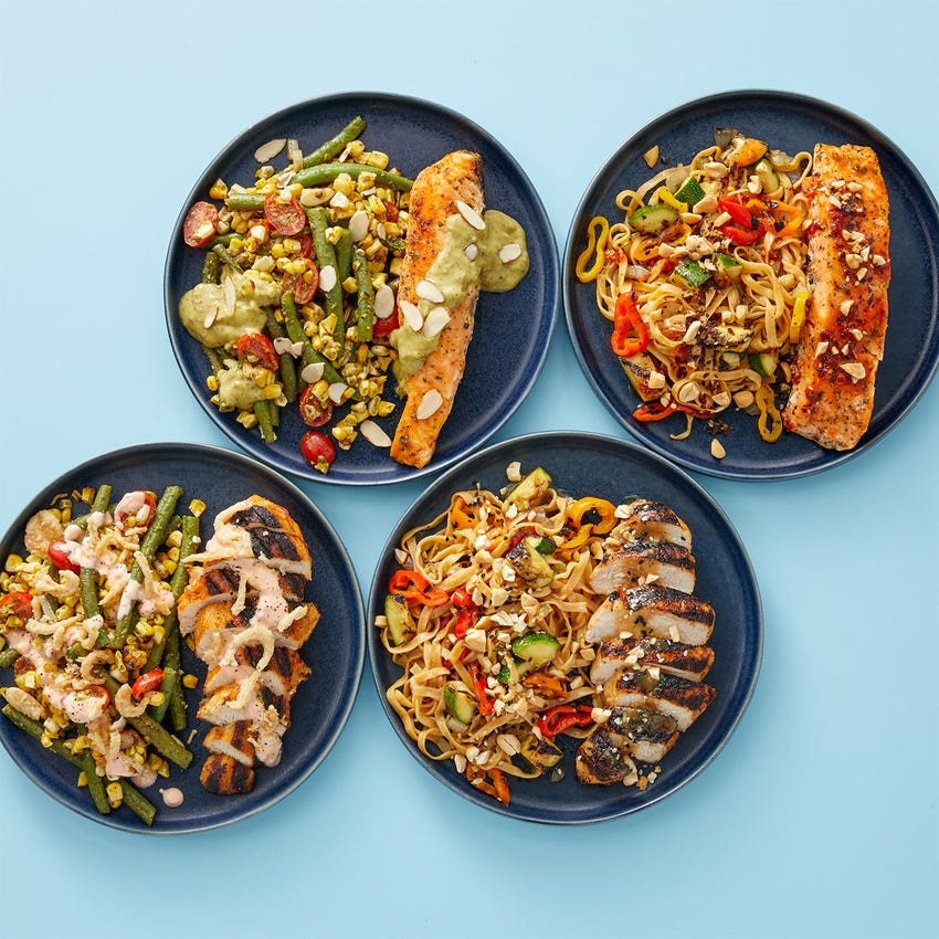 Grilled Salmon & Chicken Meal Prep Bundle