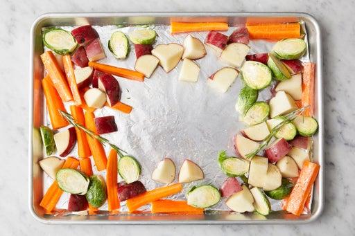 Season the vegetables: