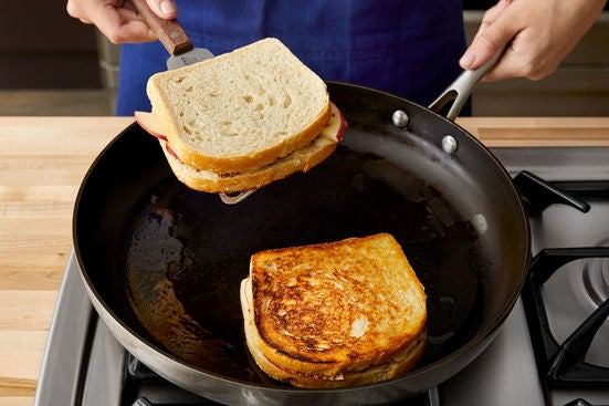 Cook the sandwiches & serve your dish: