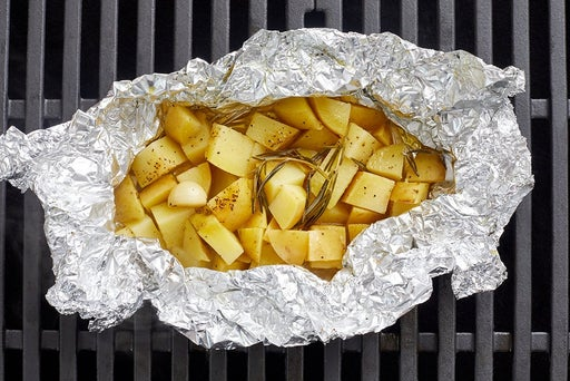 Assemble & grill the foil packet potatoes
