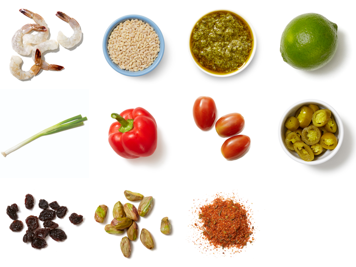 Chimichurri Tilapia with Barley, Pepper & Tomatoes
