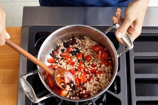 Finish the barley & serve your dish