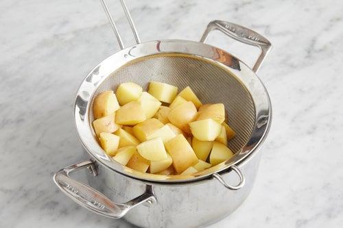 Parboil the potatoes & kohlrabi