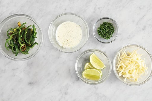 Prepare the remaining ingredients & make the lime mayo