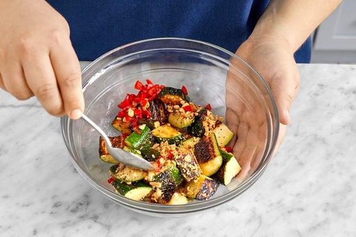 Finish the zucchini & serve your dish