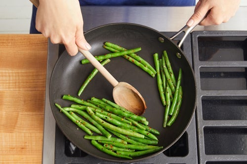 Cook the green beans