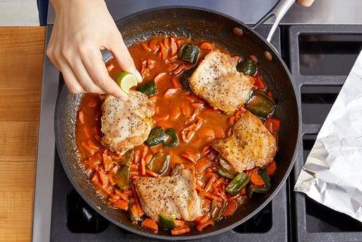 Braise the chicken & serve your dish