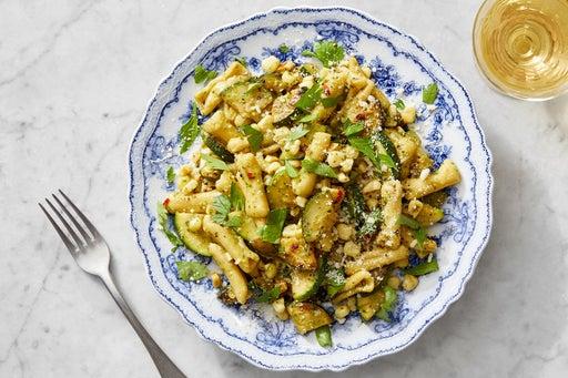 Fresh Cavatelli Pasta & Basil Pesto with Corn & Zucchini
