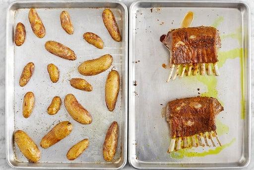 Roast the lamb & potatoes