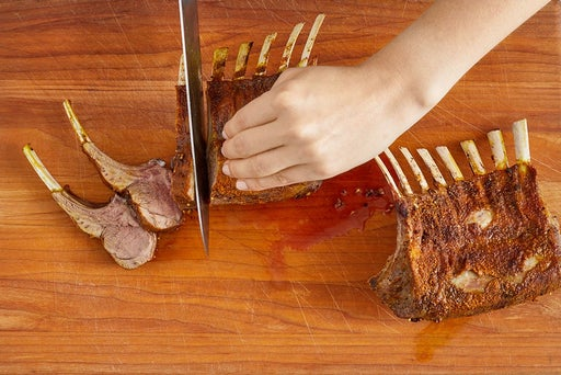 Slice the lamb & serve your dish