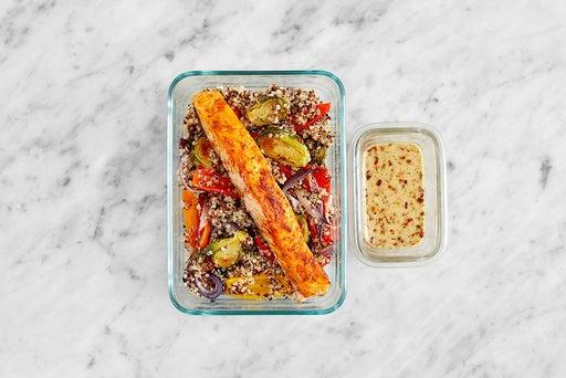 Assemble & Store the Smoky Salmon & Veggie Quinoa