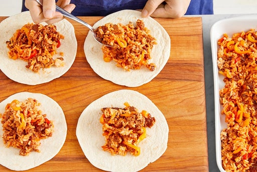 Assemble & bake the enchiladas