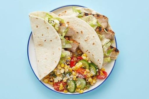 Finish & serve the Ancho-Spiced Pork Tacos